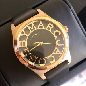 Marc by Marc Jacobs Skeleton Gold w/ Leather Band
